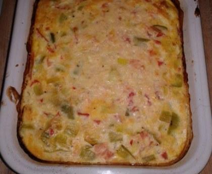 Frittata tomato and leeks (baked omelette)