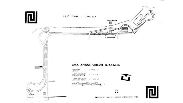 layout bentuk denah sirkuit Ancol pasca renovasi 1971