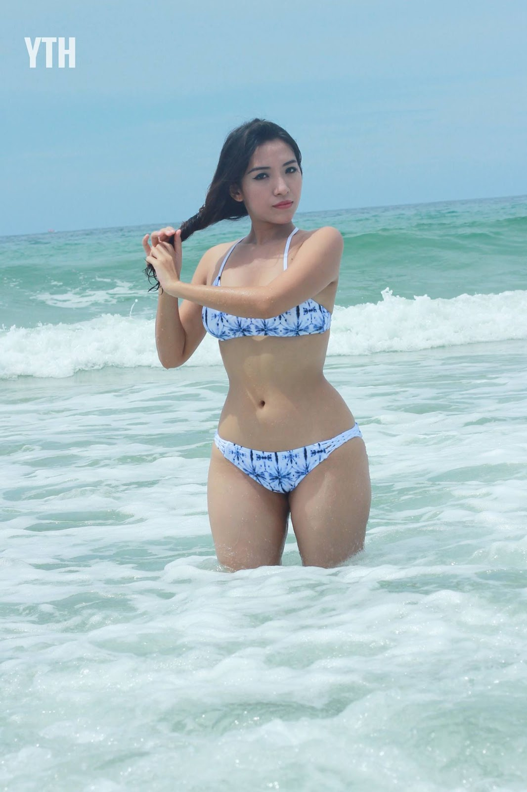 Nang Mwe San At The Beach and Swimsuit Fashion Photoshoot