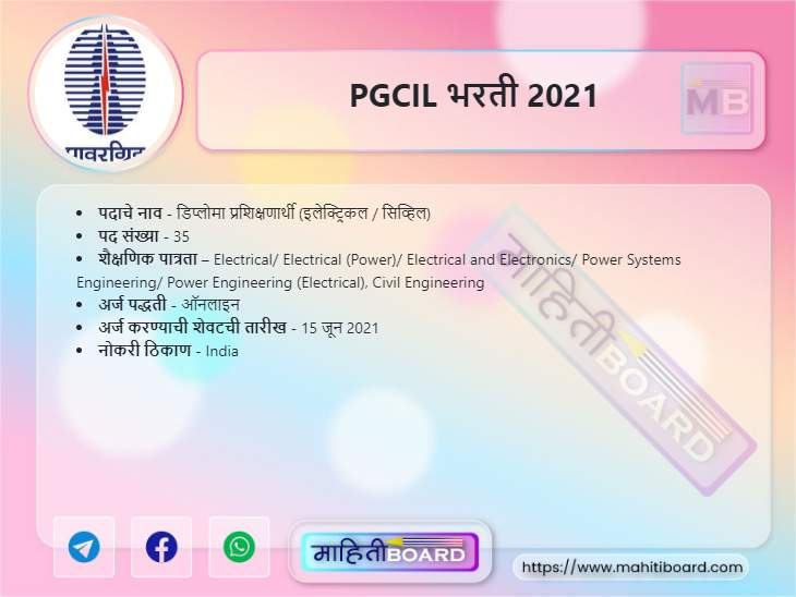 PGCIL Bharti 2021