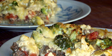 Tarta z brokułami i kalafiorem