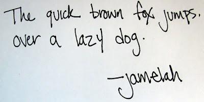 Sola yatık el yazısı
