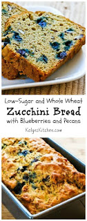 Low-Sugar and Whole Wheat Zucchini Bread Recipe with Blueberries and ...