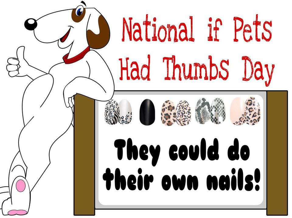 National If Pets Had Thumbs Day Wishes Sweet Images