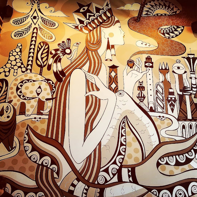 Starbucks murals coffee Los Angeles downtown LA  art artwork