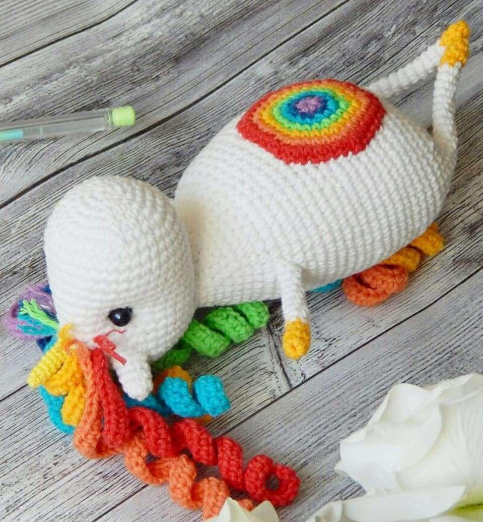 Crochet toy unicorn amigurumi