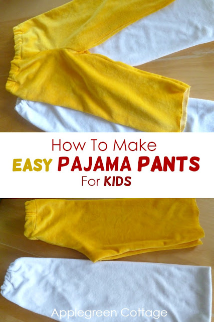 how to make pajam apants for kids. See how I madde pajama pants for toddlers without a pattern, easy and quick. This is a free tutorial for beginners, a quick and easy sewing project. there's a winter pajama pants and a summer pajama pants tutorial here!