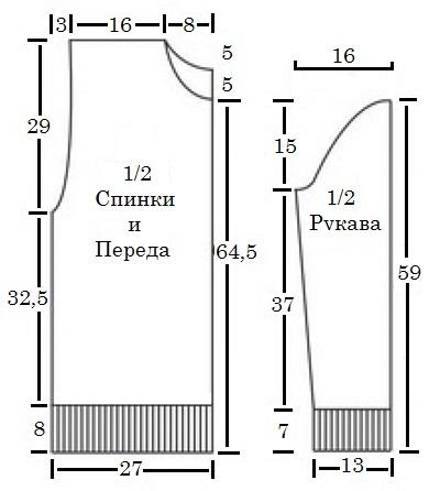 mujskoe vyazanie sviter svyazannii spicami so shemoi uzora i opisaniem vyazaniya