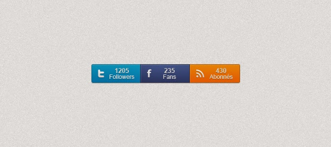 Social Counters Buttons