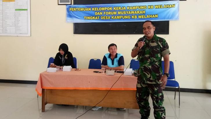 Pelda Wahidin Berikan Wasbang Kepada Kelompok Kerja Kampung KB Desa Welahan Wetan