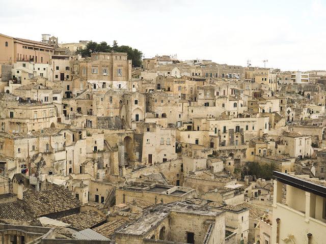 Una veduta sul Sasso Barisano a Matera