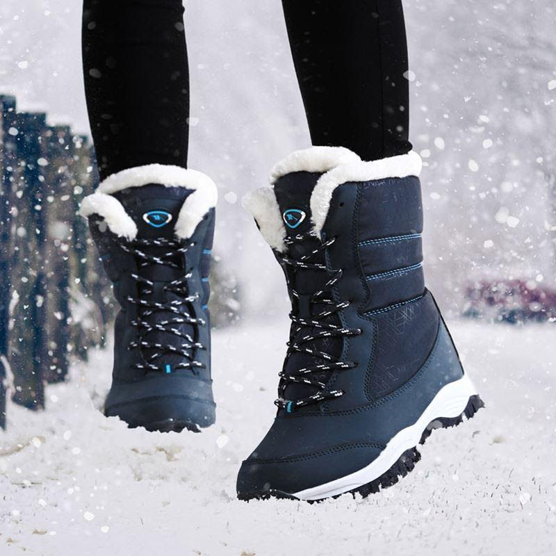 Women's Non-Slip Waterproof Fir Lined Winter Boots
