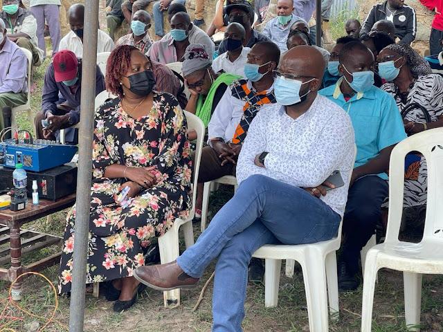 Kilifi County Speaker Jimmy Kahindi at Chasimba funeral. PHOTO | FILE