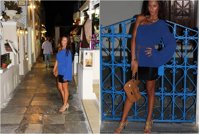 best Santorini blue fashion looks and outfits for evening