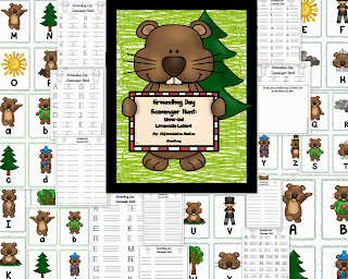http://www.teacherspayteachers.com/Product/Groundhog-Day-Alphabet-Scavenger-Hunt-Upper-and-Lowercase-Center-Printables-1035998