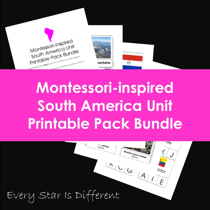 Montessori-inspired South America Unit Printable Pack Bundle
