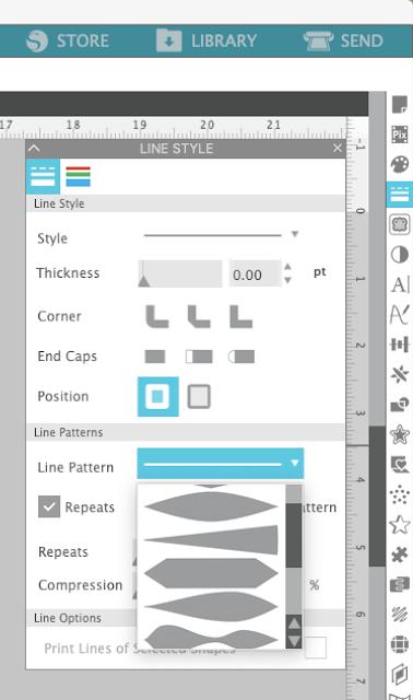 silhouette studio, silhouette design studio, silhouette studio tutorials, line pattern styles, designer edition plus