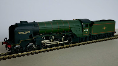 "David's model of A2/3, ""Owen Tudor"", which will feature in the display The real-life version regularly ran through Brookmans Park"
