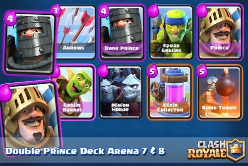 Stategi Deck Prince dark prince Arena 7 8 Clash Royale