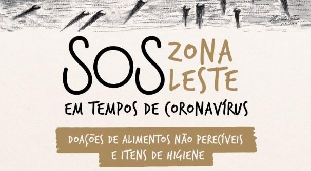 Campanha SOS Zona Leste promove arrecadação de alimentos e itens de higiene