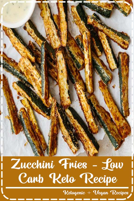 ultra cheesy and flavorful with freshly grated Parmesan cheese Zucchini Fries - Low-Carb Keto Recipe