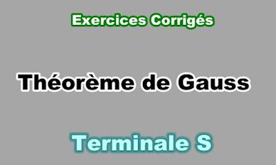 Exercices Corrigés Théorème de Gauss Terminale S PDF