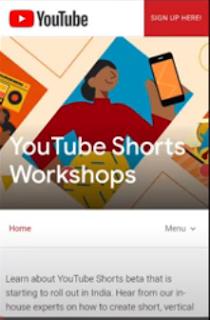 YouTube Shorts Signup