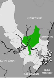Lokasi Kerajaan Kutai jaman dahulu kala