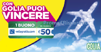 Logo Golia Gift 2019: vinci gratis 200 voucher Volagratis da 50€