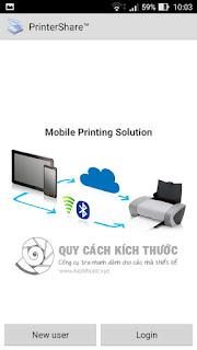 cach dang nhap printer share de in tren dien thoai