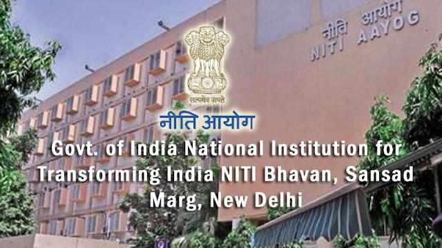 Govt. of India National Institution for Transforming India NITI Bhavan, Sansad Marg, New Delhi