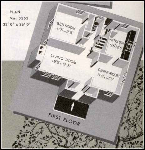 Floorplan Image: Sears Homes from 1940