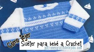 Suéter para bebé de 9 a 12 meses | Paso a paso