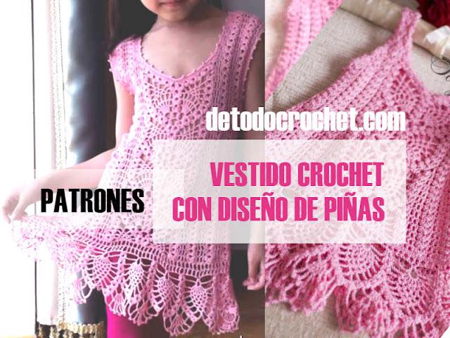 patrones-de-vestido-rosa-crochet-para-niñas