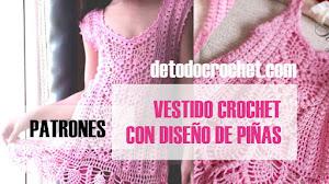 Patrones Crochet de Hermoso Vestido de Niñas Diseño Piñas