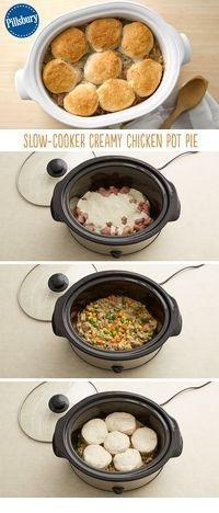 Slow-Cooker Creamy Chicken Pot Pie