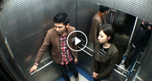 فتاة امريكية جميلة ركبت مع شاب عربى المصعد ولكن حدثت مفاجاة غير متوقعة