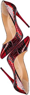 Christian Louboutin Pigalle Follies Ayer snakeskin pumps #brilliantluxury