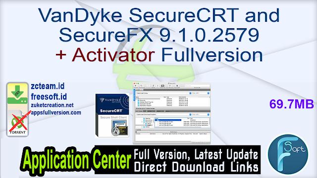 VanDyke SecureCRT and SecureFX 9.1.0.2579 + Activator Fullversion