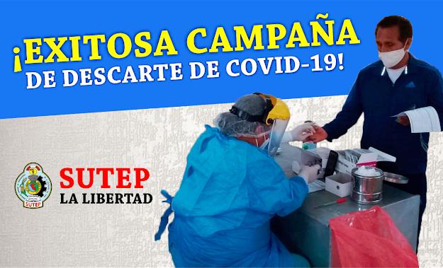 SE REALIZÓ EXITOSA CAMPAÑA GRATUITA DE DESCARTE POR COVID-19 AL MAGISTERIO LIBERTEÑO Y TRUJILLANO