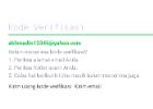 Verifikasi email line