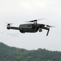 DJI Mavic Pro Flying in air side View