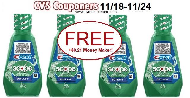 http://www.cvscouponers.com/2018/11/free-crest-scope-mouthwash-cvs-deal.html