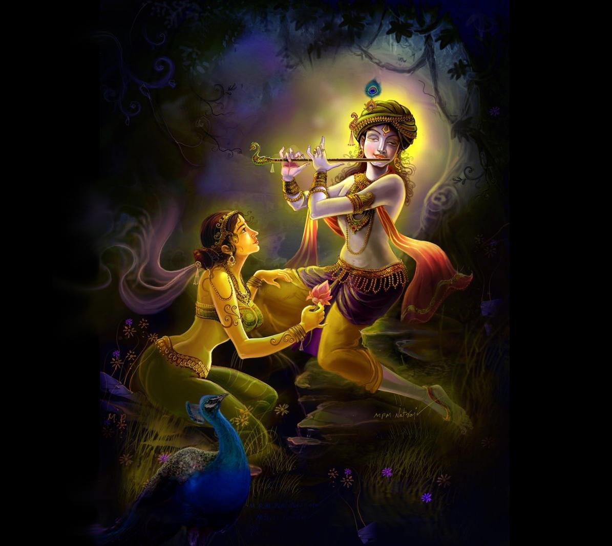 Krishna Radha Love Wallpaper Bhagwan Ji Help...