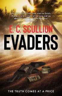 Book cover of Evaders by EC Scullion