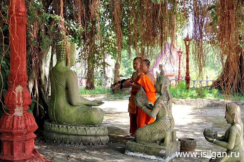 Храм Ват Кром (Wat Krom). Город Сиануквиль. Камбоджа