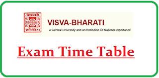Visva Bharati University Exam Date Sheet 2020
