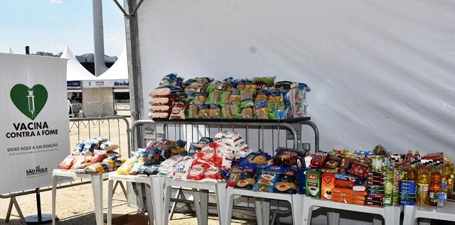 Campanha Vacina contra a Fome ultrapassa marca de 20 mil toneladas de alimentos arrecadados