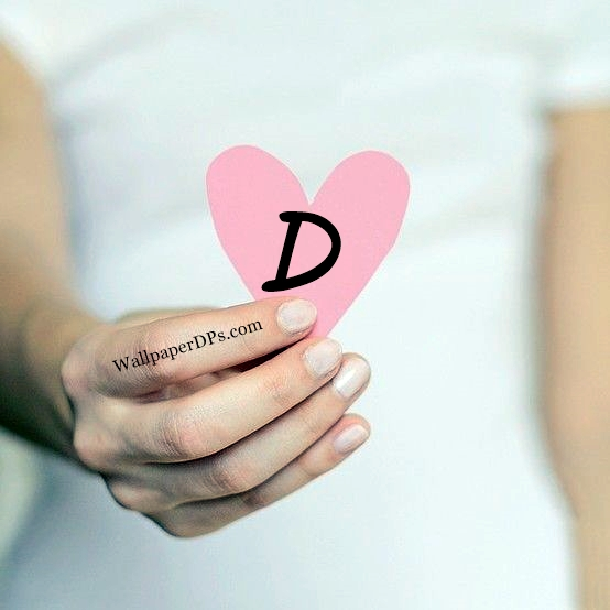 A to Z Alphabet Words in Pink heart Hand Facebook n Whatsapp Dp Wallpaper
