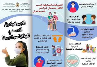 مطوية تعريفية بكورونا و البروتوكول الصحي الواجب اتباعه